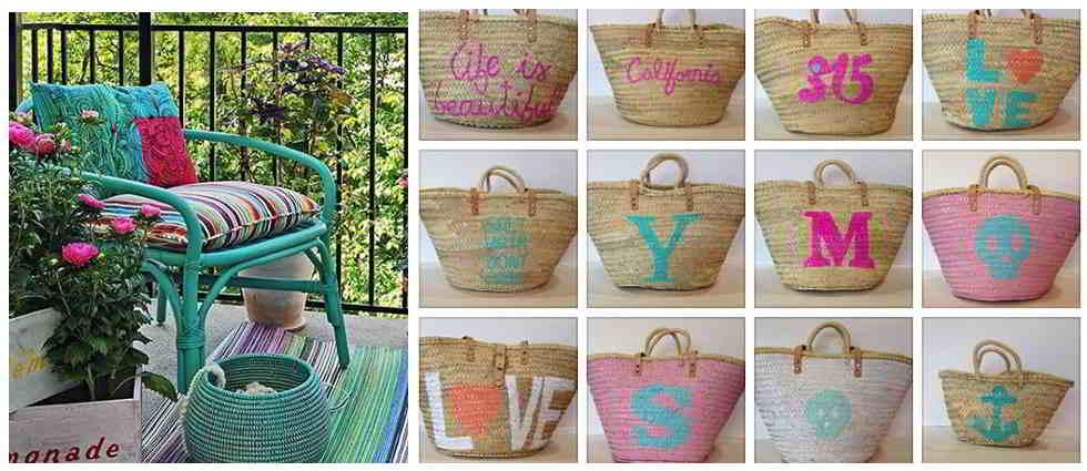 Pintar objetos de mimbre - Reciclar cestas de mimbre ...