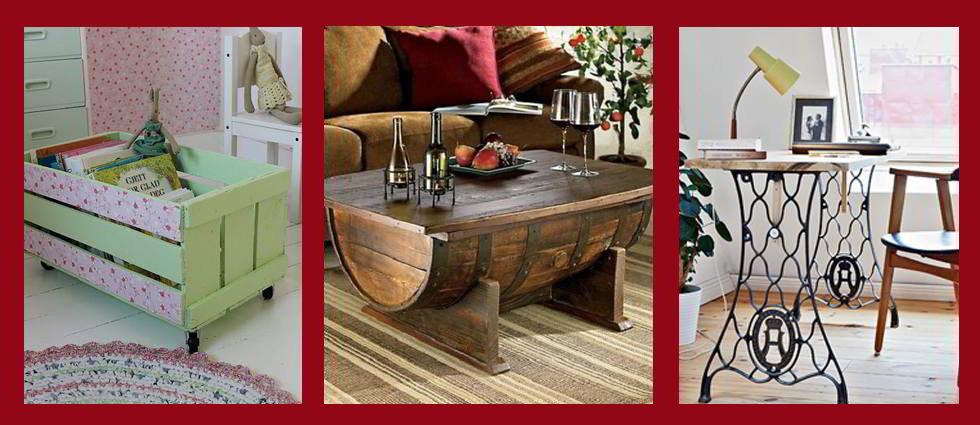 Ideas para obtener muebles reciclados a partir de sencillos objetos - Como reciclar muebles ...