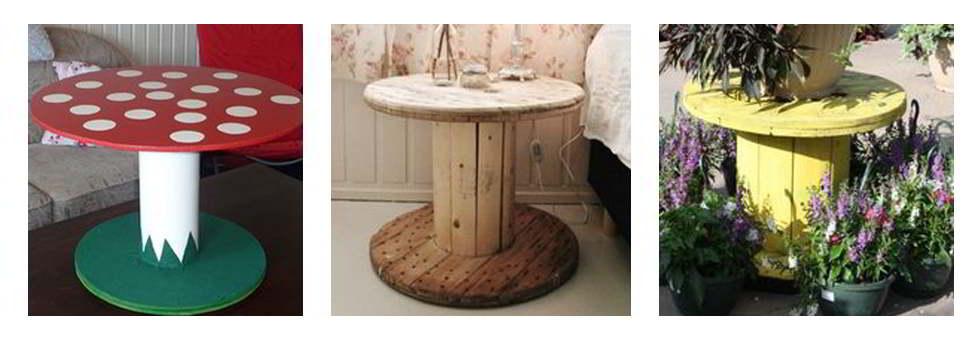Ideas de muebles reciclados bobinas - Ideas para restaurar muebles ...