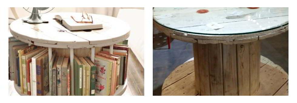 Ideas de muebles reciclados bobinas for Como reciclar muebles de madera