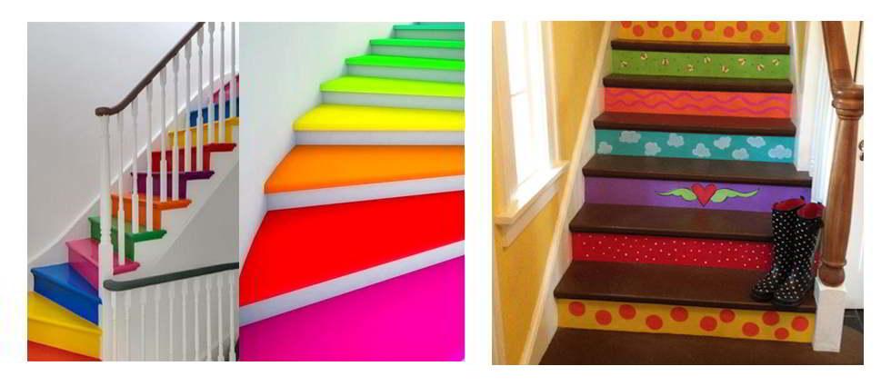 Decorar escaleras la casa de pinturas - Pinturas para madera interior ...