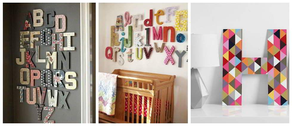 Decoraci n con letras la casa de pinturas - Letras de decoracion ...