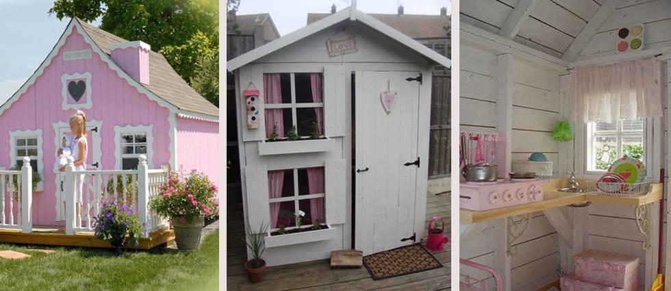 casita de madera infantil
