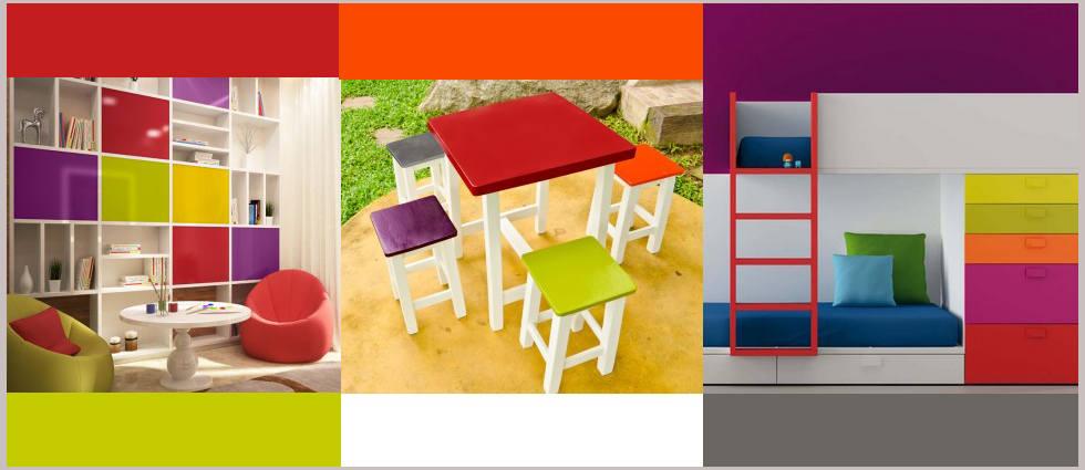 muebles pintados con mueble color