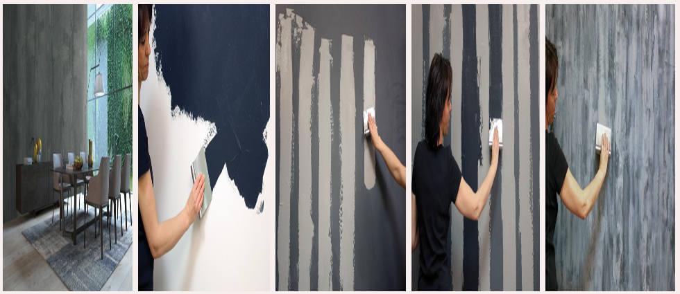 Pintura con efecto hormig n para paredes la casa de pinturas for Moda en pintura de paredes