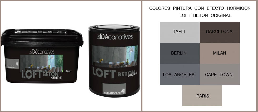 Loft bet n original les decoratives - Pinturas con efecto ...