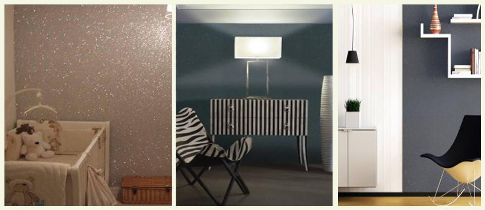 Pintura purpurina para paredes