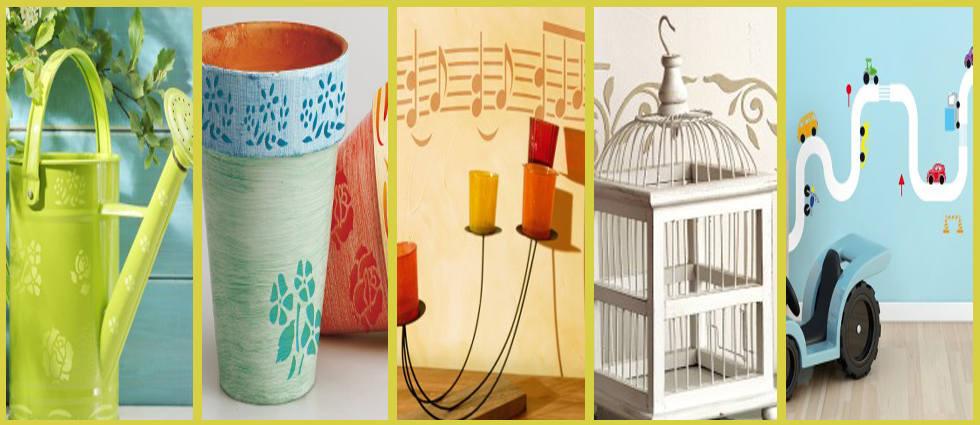 plantillas decorativas para sus paredes