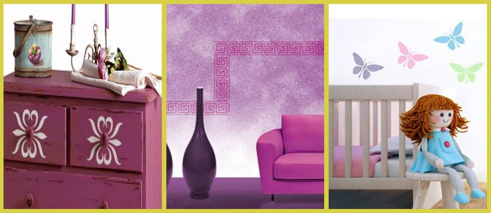 modelos de plantillas para decorar paredes