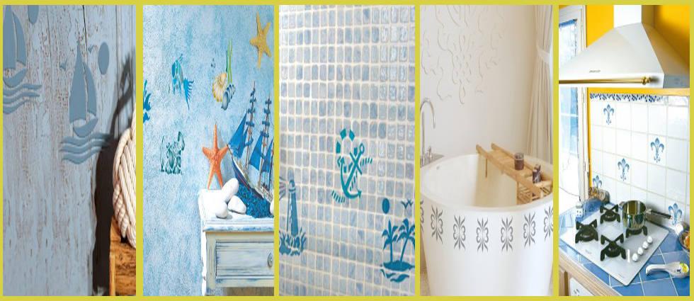 modelos de plantillas decorativas para paredes