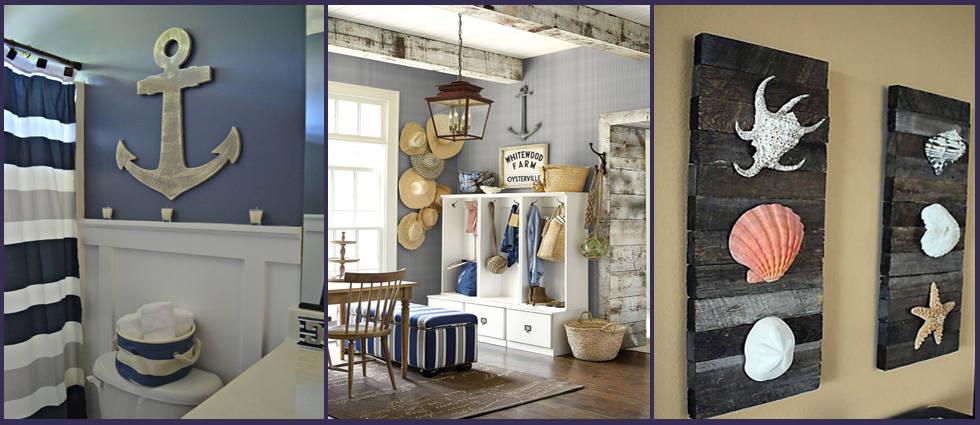Decoraci n n utica para su hogar la casa de pinturas for Decoracion para el hogar adornos