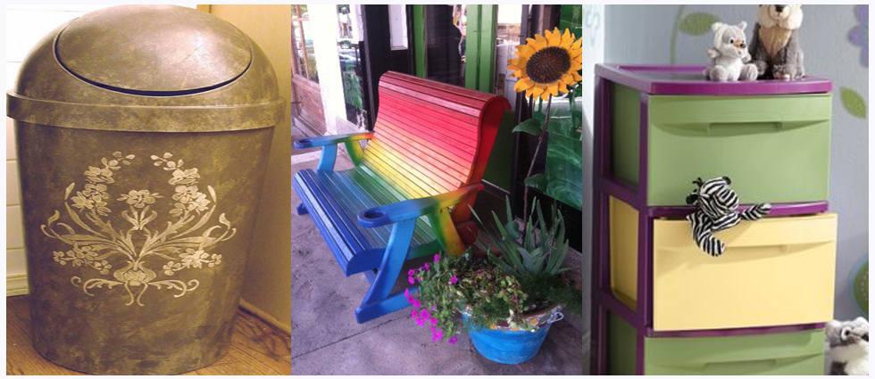 ideas para pintar mobiliario de plástico