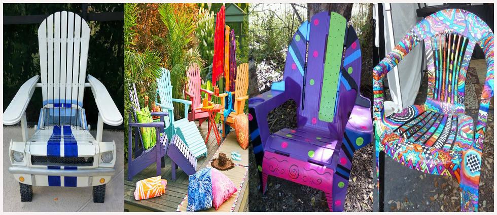 otras ideas de decorar mobiliario de plástico