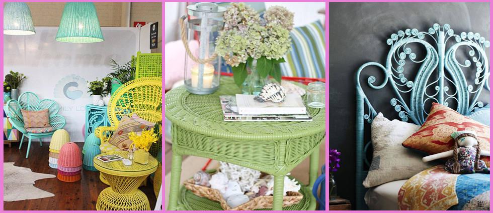 Restaurar y pintar muebles de mimbre la casa de pinturas for Muebles de mimbre para jardin