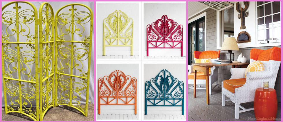 Restaurar y pintar muebles de mimbre la casa de pinturas for Color bambu pintura