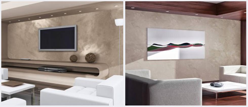 Pintura efecto tierra en sus paredes la casa de pinturas - Pintura metalizada para paredes ...