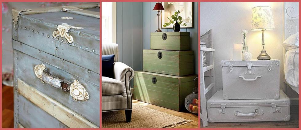 baúl de madera decorado