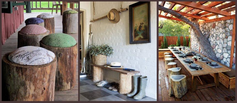 Decorar con troncos de rbol la casa de pinturas - Decoracion troncos madera ...