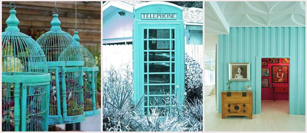 ideas para decorar con Azul turquesa