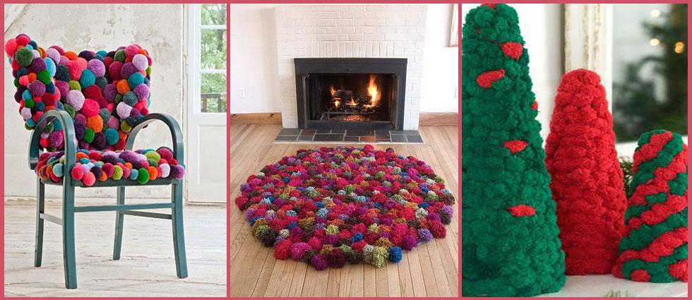 decoración con pompones para el hogar