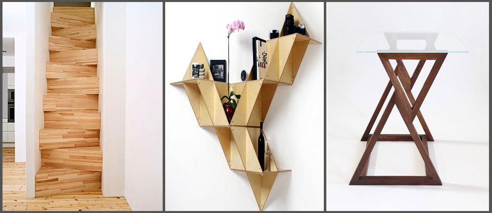 decoracion elegante con triángulos