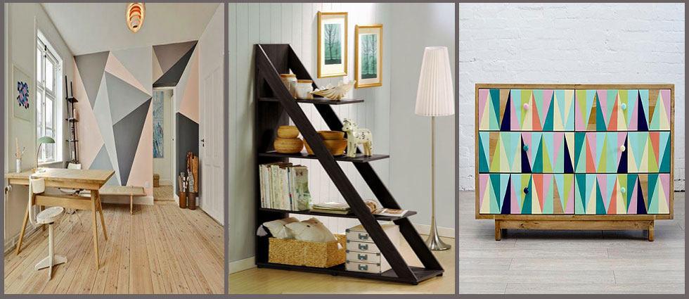Tri ngulos en la decoraci n de interiores la casa de pinturas for Decoracion interiores pintura