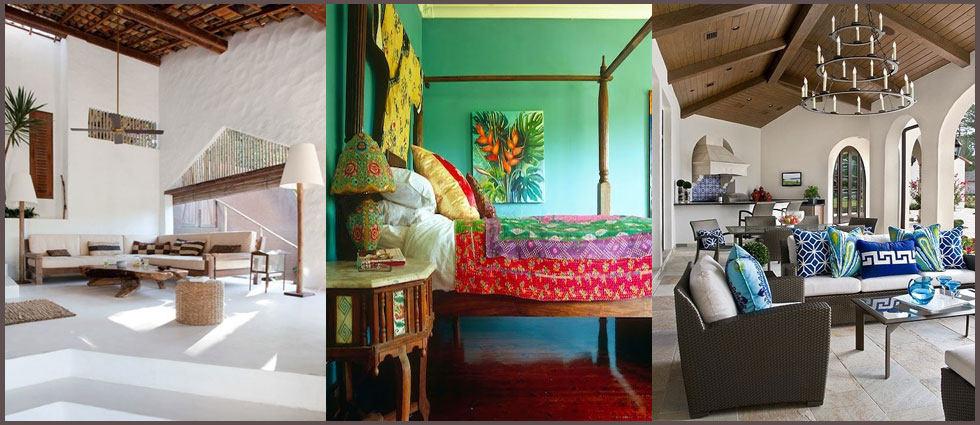 ambientes con estilo tropical chic