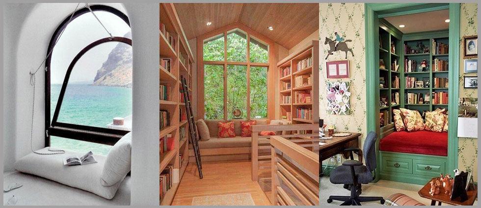 Crear y decorar un rinc n de lectura la casa de pinturas for Rincon lectura