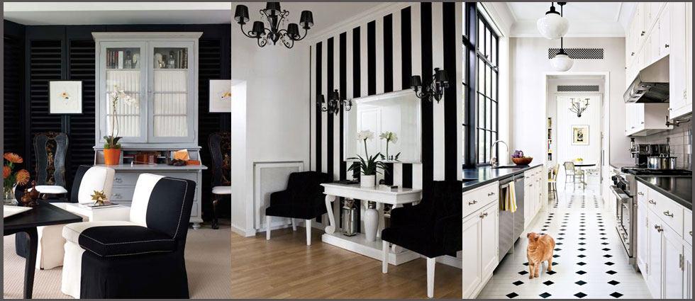 decorar en blanco y negro el hogar