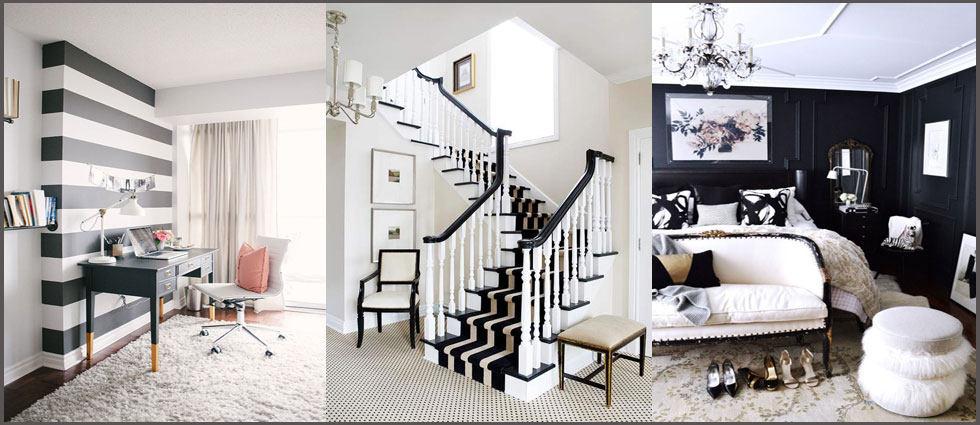 Decoraci n - Decoracion salon blanco y negro ...