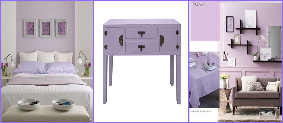 decorar en color malva