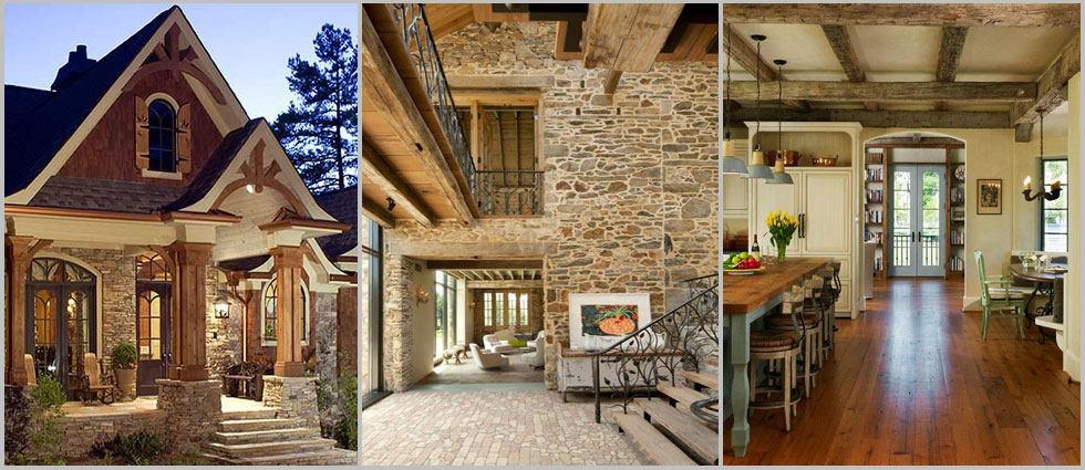 Una casa estilo r stico la casa de pinturas tu tienda - Casas estilo rustico ...