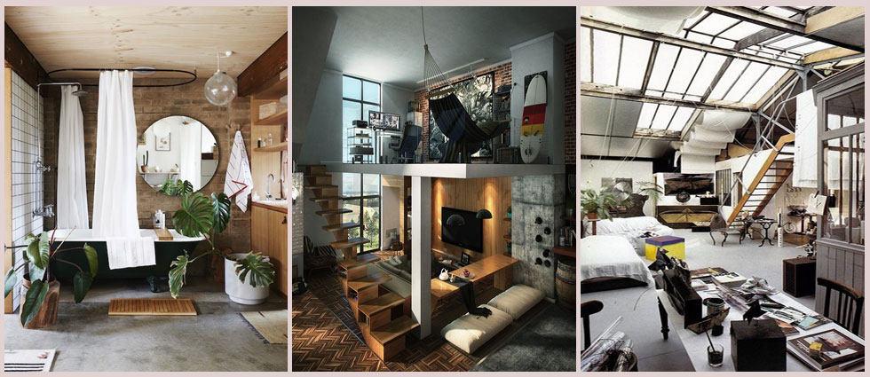 decoración estilo hipster en el hogar