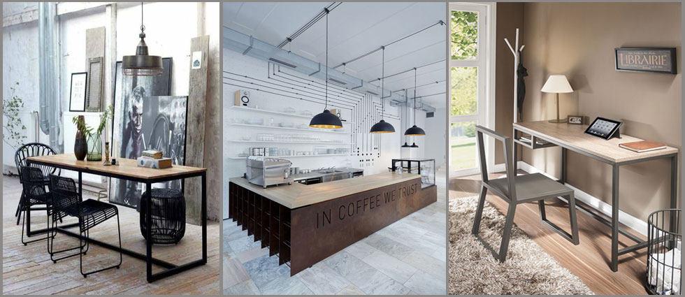 Madera y metal la pareja perfecta la casa de pinturas tu tienda online de pinturas y bricolaje - Casas de madera decoracion ...