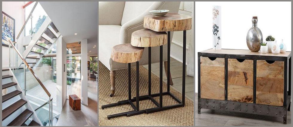 Decoraci n madera y metal archivos la casa de pinturas - Pared de madera decoracion ...