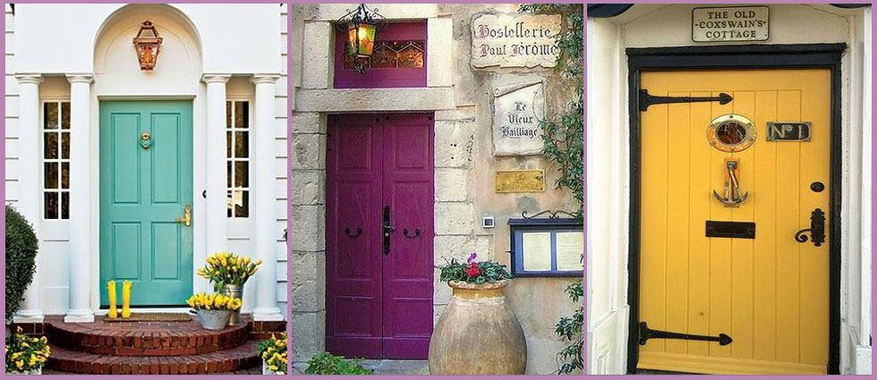 Colores para la puerta de entrada la casa de pinturas - Puertas de casa ...