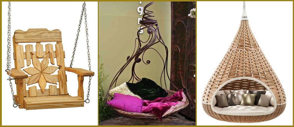 sillas colgantes de tendencia en decoracion