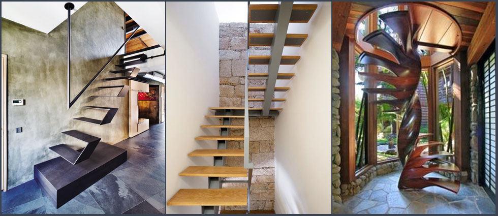 escaleras flotantes de moda