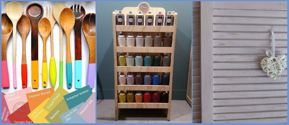 Pintura en spray efecto tiza fleur para un acabado ptimo for Pintura para muebles efecto tiza