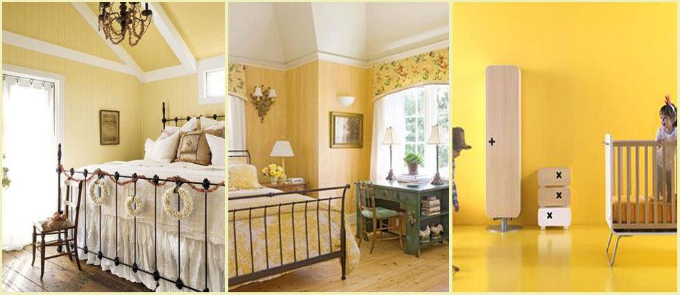 Amarillo color primaveral para dormitorios - Color ocre para paredes ...