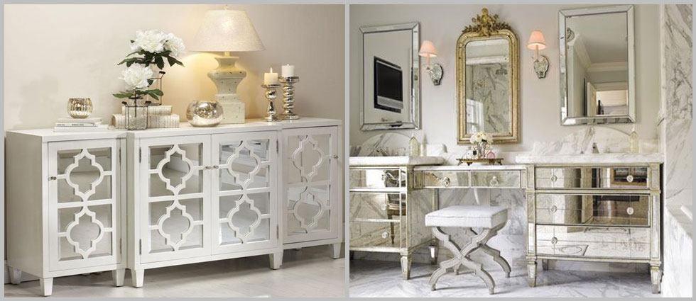 Los muebles de espejo vuelven a estar de moda for Espejo largo pared