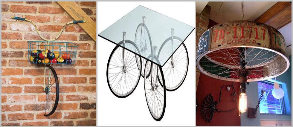 bicicleta decorativa para el hogar