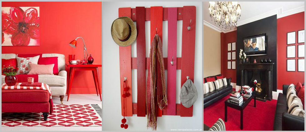 color rojo de actualidad en decoracion