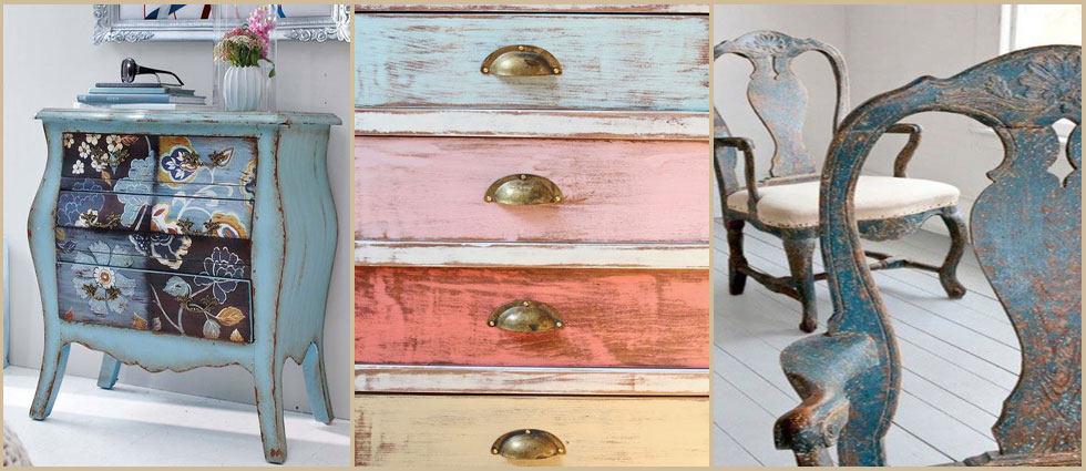 Envejecer muebles de forma sencilla - Muebles pintados de colores ...