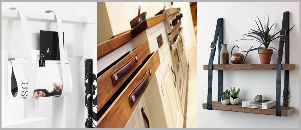 decoración con cinturones de actualidad en los hogares
