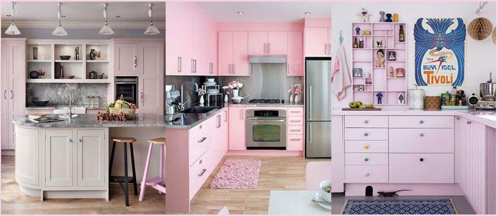 Cocina rosa fucsia gris y blanco - Cocinas rosa fucsia ...