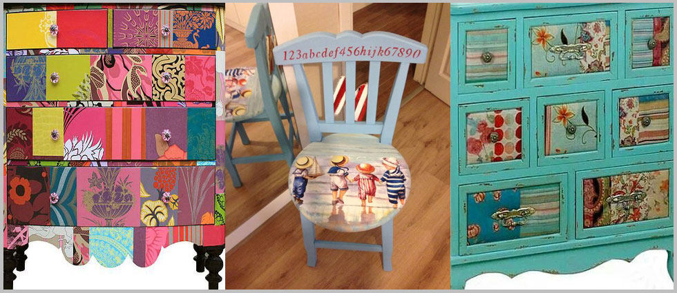 muebles con decoupage