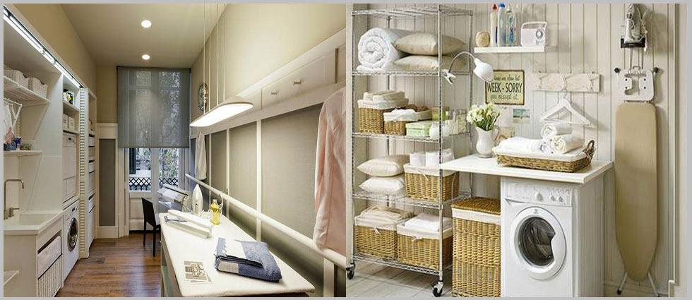 cuartos de lavado y plancha decorados