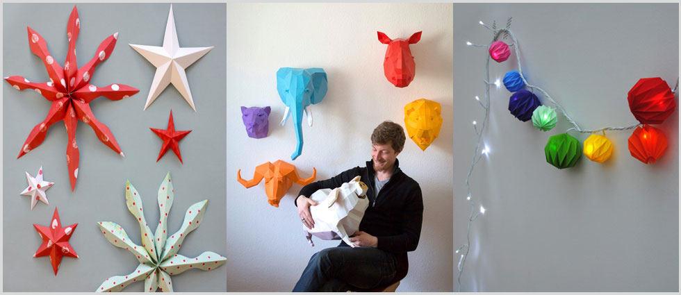 origami en la decoracion de casas