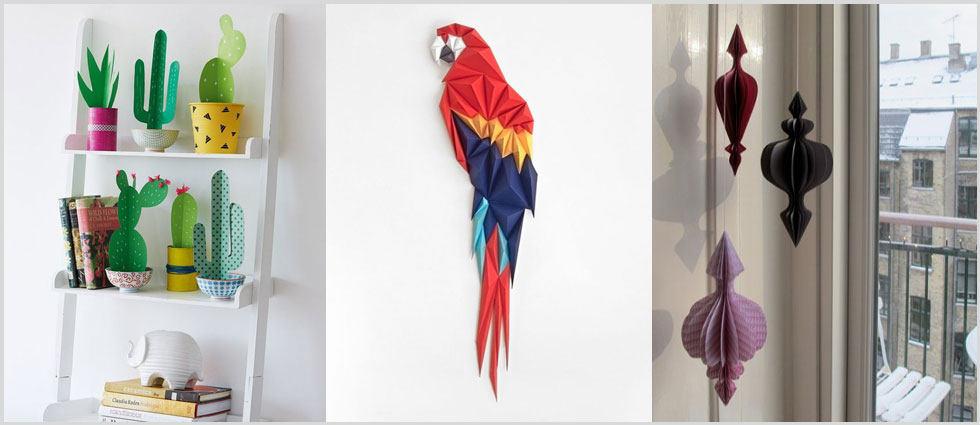 origami de moda en los hogares